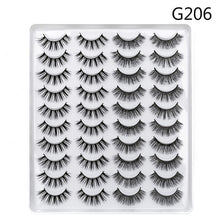 Load image into Gallery viewer, 5/8/20 Pairs Eye Makeup Tools Natural Long Wispy Fluffy Handmade False Eyelashes 5D Mink Hair Eye Lashes Extension Thick Cross
