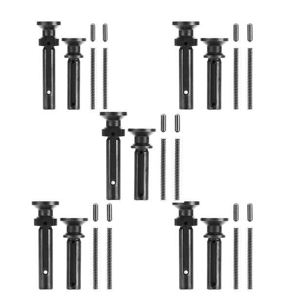 5x set Tactical Extended Takedown Take Down Pivot Pins with Dentent Spring .223 .308 Longer Featureless Addition Helper