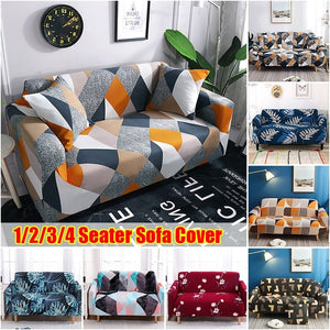 1/2/3/4 Seaters Sofa Protector Cover Sofa Covers Couch Elastic Stretch Tightly Wrap All-inclusive Slip-resistant Sofa Slipcover for Living Room(without sofa)