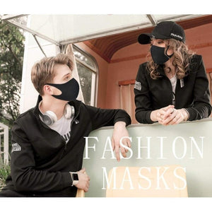 3Pcs Black Mouth Mask Outdoor Fashion Anti-Dust Cotton Unisex Face Mask Respirator Winter Warm Mouth Mask
