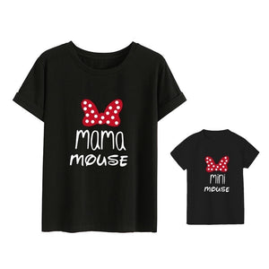 1pcs Mom Cotton T-shirt Mama Family Outfits Costumes Baby and Mom Clothes Mom Son Daughter Outfits T-shirt Clothes