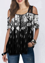 Load image into Gallery viewer, New Lace Print Short Sleeve Loose T-Shirt Women's Summer Casual T-Shirt