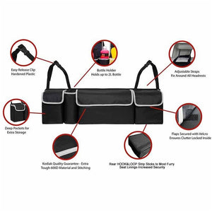 3 Types Black Car Back Seat Organizer Black Large Capacity Multi-use Car Seat Back Organizers Bag