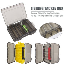 Load image into Gallery viewer, 10/12/14 Compartments Double Sided Fishing Tackle Box Bait Lure Hook Storage Box
