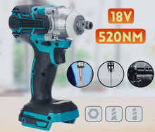 Load image into Gallery viewer, 18V Brushless Impact Wrench 520N.m 1/2 Inch Electric Wrench Drill Tool [No Battery]