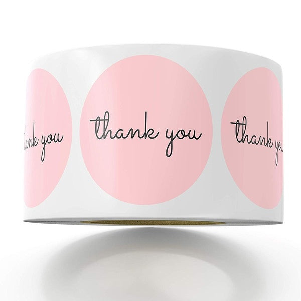 500pcs Thank You Stickers for Birthday Party Favors | Labels & Mailing Supplies for Small Business Boutique Bags