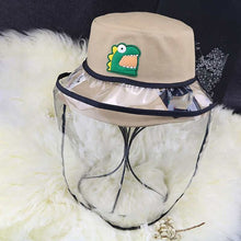 Load image into Gallery viewer, Kids Anti-fog Detachable Epidemic Prevention Hat Anti-bacteria Child Protection Cap Sun Protection Cartoon Pattern Cap