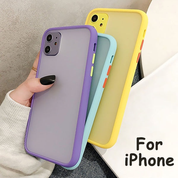 Shockproof Transparent Silicone Phone Case for IPhone 11 Pro Max XR XS X Clear Soft TPU Silicone Back Cover