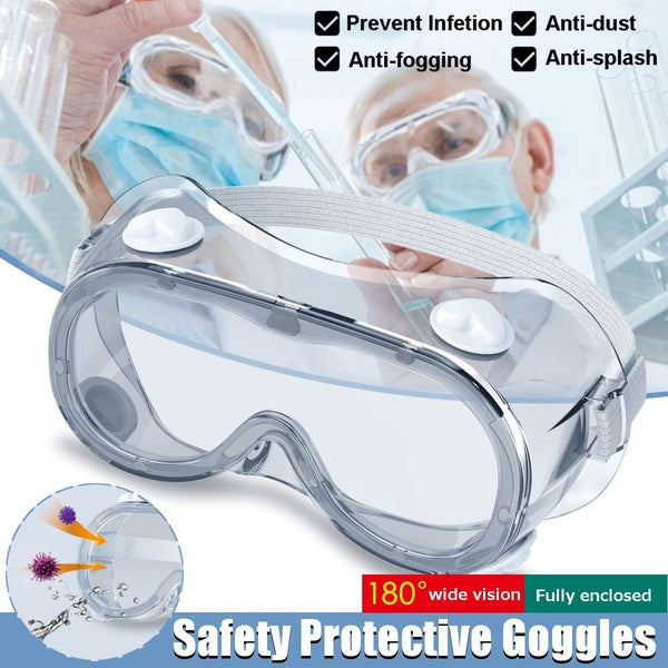 Medical Safety Goggles PC Transparent Lens Goggles Fully Enclosed Eye Protective Glasses Anti-Fog Antisand Dust Resist UV Light