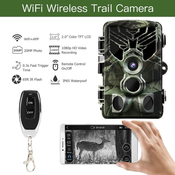 2020 NEWEST 20MP Wireless Wifi APP Hunting Camera Night Vision 1080P APP Remote Waterproof