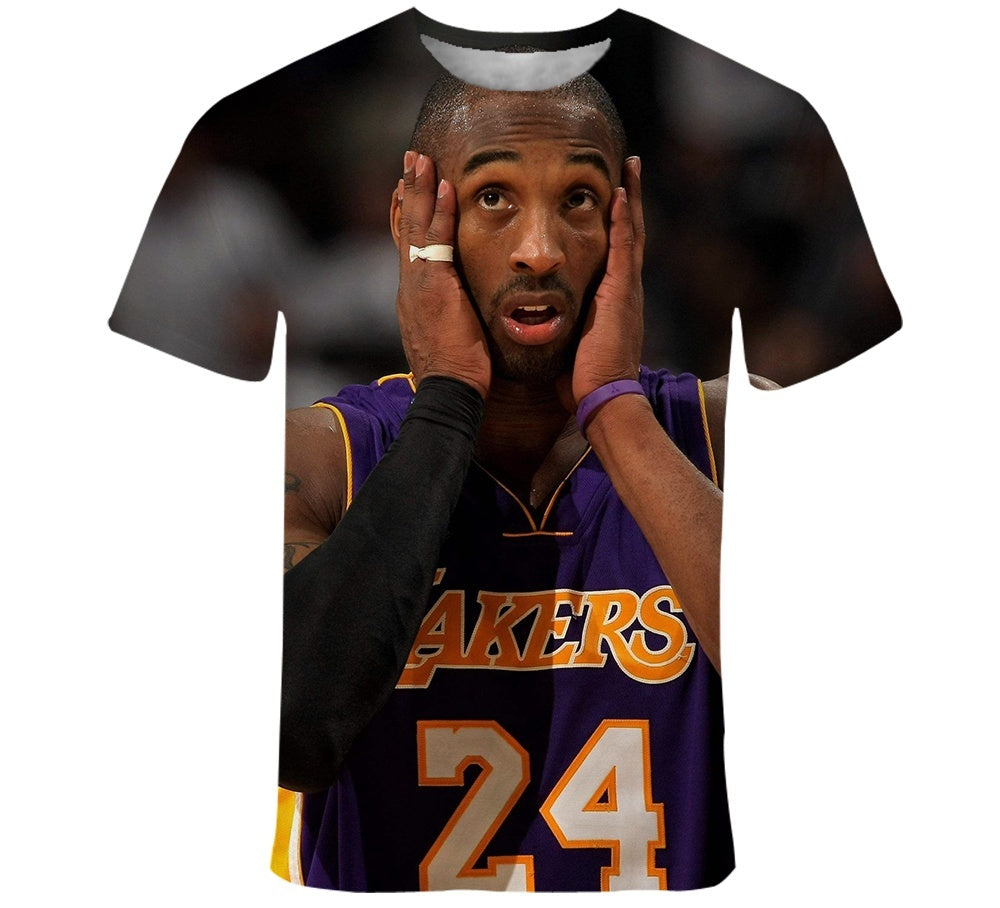 2020 Kobe Bryant 3d printed short-sleeved T-shirt