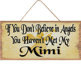Mimi Wood Sign Mothers Day Wood Sign Mothers Gifts Home Decoration
