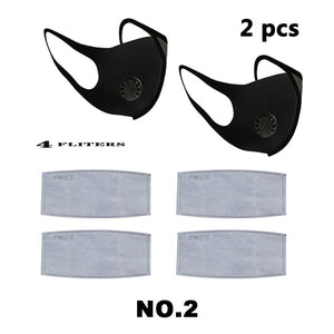 PM2.5 mask Reusable filter mask replacement Three-dimensional sponge mask Antivirus dust filter Breathing valve mask