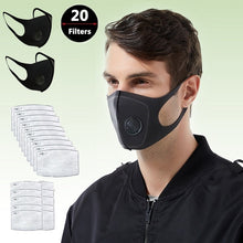 Load image into Gallery viewer, PM2.5 mask Reusable filter mask replacement Three-dimensional sponge mask Antivirus dust filter Breathing valve mask