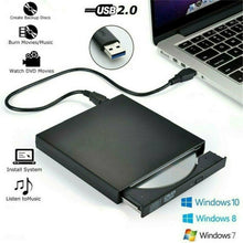 Load image into Gallery viewer, USB High Speed External CD DVD Drive 4K 3D Blu Ray Player Writer Portable BD/CD/DVD Burner Driver for Mac,Win 10,8,7,XP,Vista,Laptop,PC