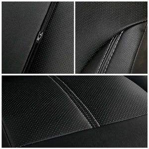 New Luxury PU Leather Auto Universal Car Seat Covers for gift Automotive Seat Covers Fit most car seats Waterproof car interiors