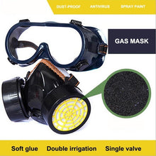 将图片加载到图库查看器,Double tank gas mask, two-piece protective mask, gas mask, spray-painted protective formaldehyde, mp2.5