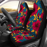 Universal Fit Car Seat Covers Butterfly Sunflower Print Durable High Back Seat Cover Set of 2 Ultra-soft Polyester Front Seat Protector for Most Car