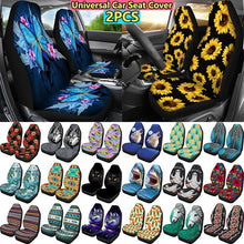 Load image into Gallery viewer, Universal Fit Car Seat Covers Butterfly Sunflower Print Durable High Back Seat Cover Set of 2 Ultra-soft Polyester Front Seat Protector for Most Car