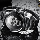 2020 Cool Punk 3D Skull Men Watch Brand LIGE Luxury Steel Quartz Male Watches Waterproof Retro Fashion Black Clock Relogio