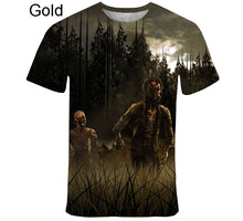 Load image into Gallery viewer, Fashion Casual The Walking Dead Short Sleeve Creative Digital Collar 3D T-Shirt