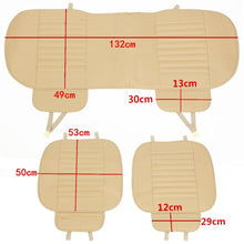 Load image into Gallery viewer, 1/2/3Pcs Universal Car Front&Rear PU Leather Seat Cover Mat Breathable Bamboo Cushion Car Protect Cover Fits For Four Seasons