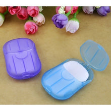 Load image into Gallery viewer, 20pcs/40pcs Mini Washing Hand Bath Travel Scented Slide Sheets Foaming Box Paper Soap
