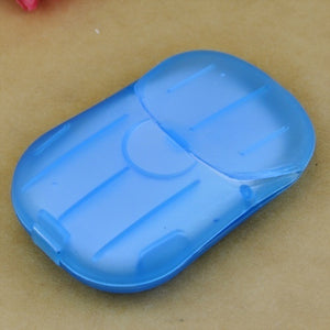 20pcs/40pcs Mini Washing Hand Bath Travel Scented Slide Sheets Foaming Box Paper Soap