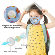 Load image into Gallery viewer, Kids Cotton PM2.5 Anti-smog Anti-Dust, Smoke, Gas and Allergies Adjustable and Reusable N95 Masks Activated Carbon Mask Protection with Different Filters