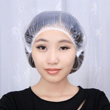 Load image into Gallery viewer, 100pcs/pack  Household Elastic Disposable Hotel One-Off Shower Bathing Cap Hair Salon Bathroom Products Shower Caps