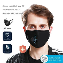 Load image into Gallery viewer, PM2.5 Anti-Fog Mask Anti-Dust Washable Anti Haze Mask Activated Filter Respirator Mouth-Muffle For Travel
