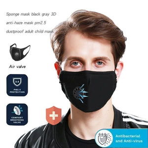 PM2.5 Anti-Fog Mask Anti-Dust Washable Anti Haze Mask Activated Filter Respirator Mouth-Muffle For Travel