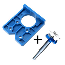 Load image into Gallery viewer, 35mm Hinge Hole Drilling Guide Locator Hinge Drilling Jig Concealed Guide Woodworking Hole Opener Door Cabinet Accessories Tool