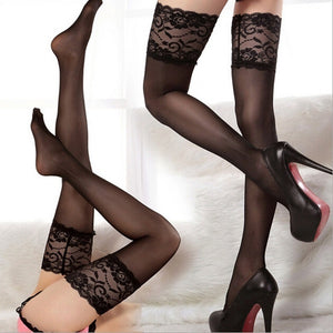 Silk Stocking Sexy Women's Non-slip Thigh High Long Stocking Sexy Pantyhose
