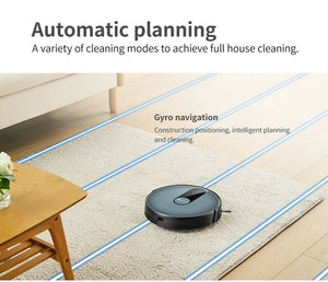 Proscenic 820P Robot Vacuum Cleaner, WiFi Connectivity, Alexa Control, Smart Mapping, Auto Boost, 1800Pa Max Suction, 600ML Large Dustbox, Self-Charging, for Pet Hairs, Hard Floors and Carpets, Blue