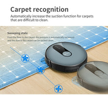 Load image into Gallery viewer, Proscenic 820P Robot Vacuum Cleaner, WiFi Connectivity, Alexa Control, Smart Mapping, Auto Boost, 1800Pa Max Suction, 600ML Large Dustbox, Self-Charging, for Pet Hairs, Hard Floors and Carpets, Blue