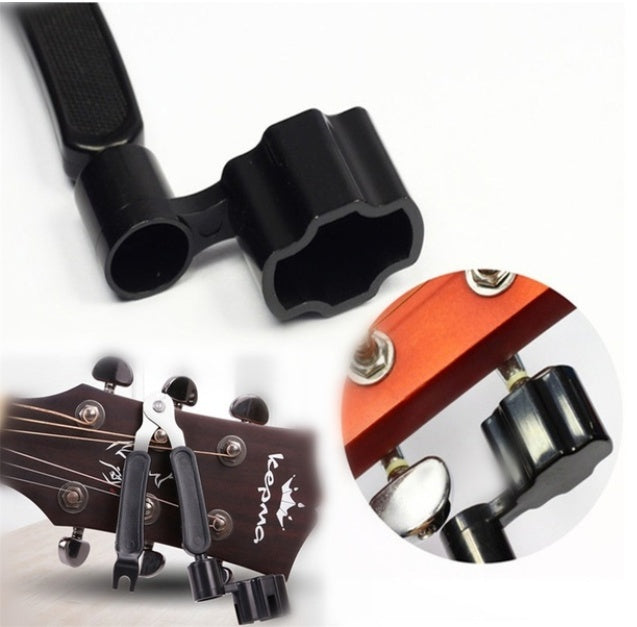 3 in 1 Multifunction Guitar Picker Peg Strings Winder + String Pin Puller+ String Cutter Guitar Accessories