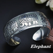 Load image into Gallery viewer, High Quality Tibetan Tibet silver Totem Bangle Cuff Bracelet Festival Gift Party Jewellery