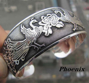 High Quality Tibetan Tibet silver Totem Bangle Cuff Bracelet Festival Gift Party Jewellery