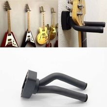 Load image into Gallery viewer, 1/2/3/4pcs Home Guitar Instrument Display Guitars Hook Wall Hangers Holder Mount Display Guitare Accessories (Color: Black)