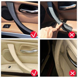 Right Side Black /Beige Inner Door Panel Car Interior Handle Pull Trim Cover Fit For BMW 3 Series E90 E91