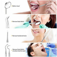 Load image into Gallery viewer, Dental Oral Hygiene Kit 8 Tools Deep Cleaning Scaler Teeth Care Set