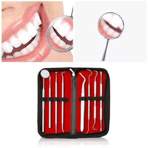 Dental Oral Hygiene Kit 8 Tools Deep Cleaning Scaler Teeth Care Set