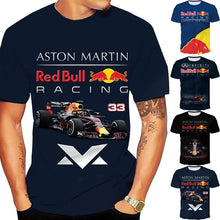Load image into Gallery viewer, New Fashion Men Women 3D Red Bull Racing Graphic Printed T Shirt Cool Motorcycle Tops