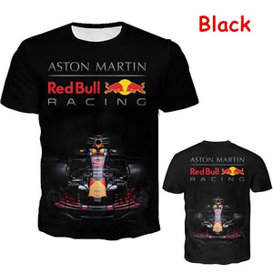 New Fashion Men Women 3D Red Bull Racing Graphic Printed T Shirt Cool Motorcycle Tops