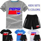 Summer Fashion Kids Tops and Shorts Boys and Girls Short Sleeve Shirts Casual Sets for Children