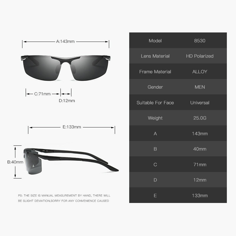 New Fashion Men's UV400 Polarized Sunglasses Sports Driving Sun Glasses Oculos Aluminum Magnesium Eyewear Accessories