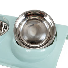 Load image into Gallery viewer, 2 Sizes Double Dog Bowl Pet Feeding Bowls Stainless Steel Splash-proof Pet Feeder