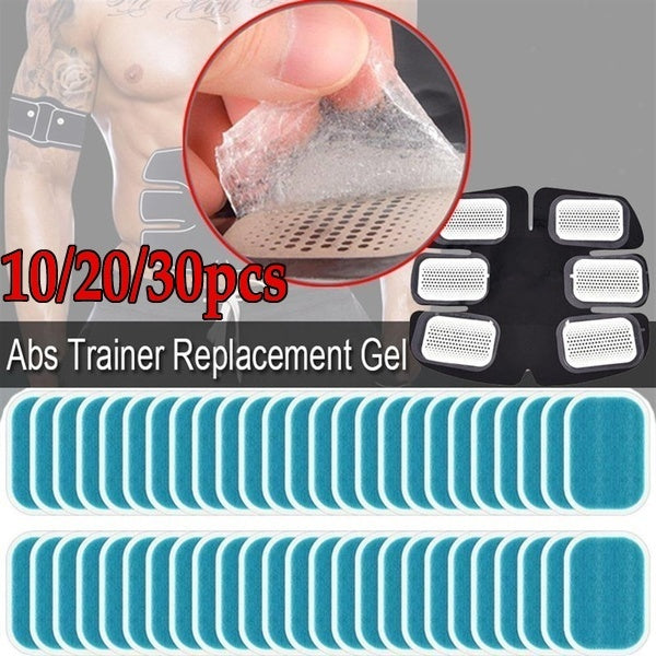 10/20/30pcs Abdominal Toning Belt Muscle Tone Abs Trainer Replacement Gel Sheetr Ab Trainer Gel Sheets for Gel Pad