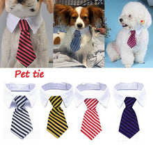 Load image into Gallery viewer, Adjustbale Size Gentle Striped Pet Collar Tie Fashion Necktie for Dog Cat Party Accessories